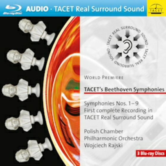 Tacet's Beethoven Symphonies 1-9 (5.1 Surround Sound) (BLU-RAY)