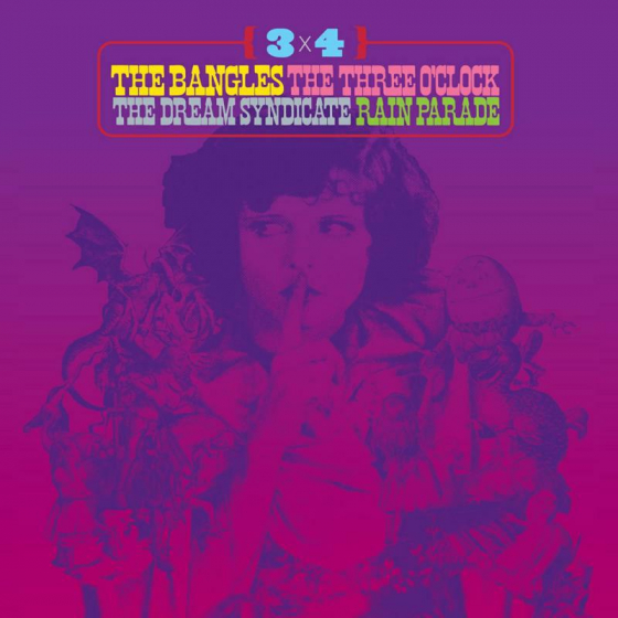 3 x 4 (The Bangles, The Three O'Clock, The Dream Syndicate and Rain Parade) (2LP)